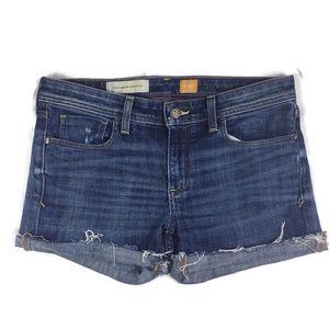 Pilcro and the Letterpress cut off jean shorts